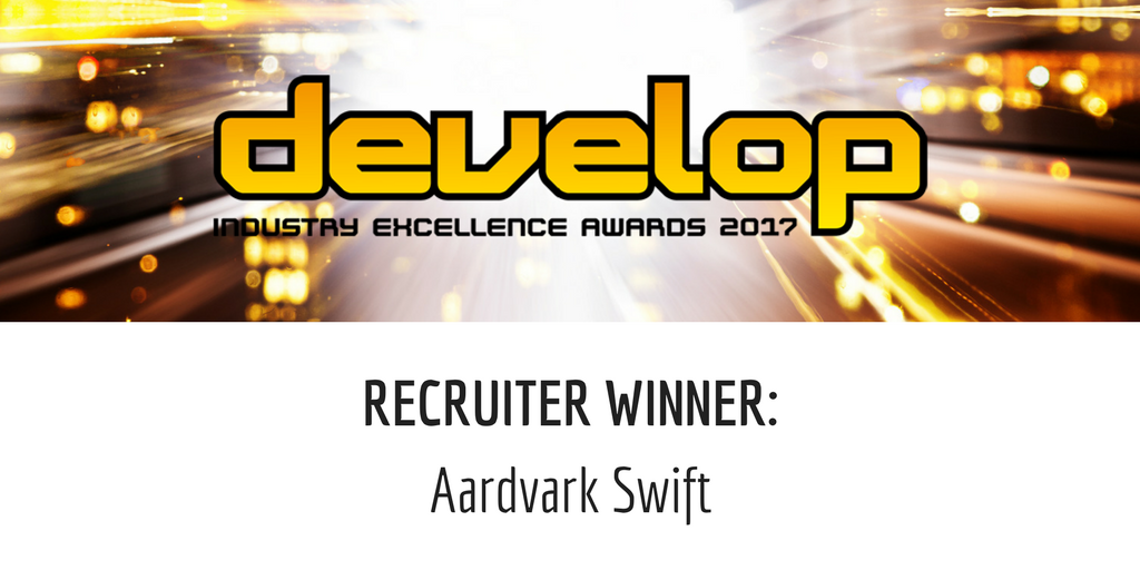 Aardvark Swift win Develop Recruiter Award 2017