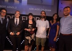 Robert Arnold, Adelaide Coldham, Thad Frogley & Sharan Bassi. Search For A Star @ Develop Awards 2018