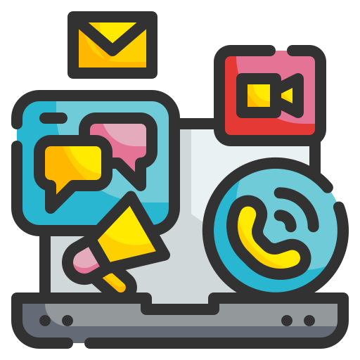 communication icon for vacancy promotion