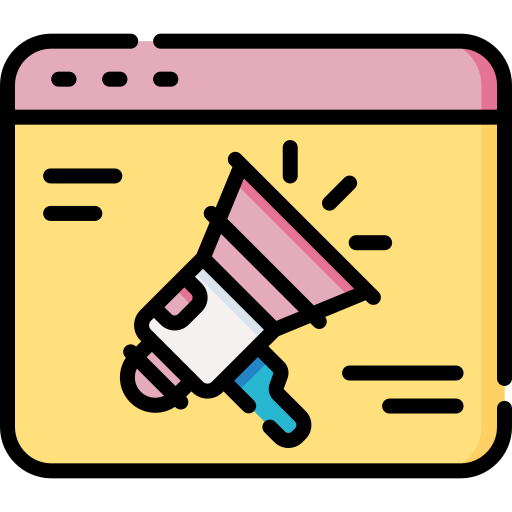 marketing and promotion icon for industry promotion