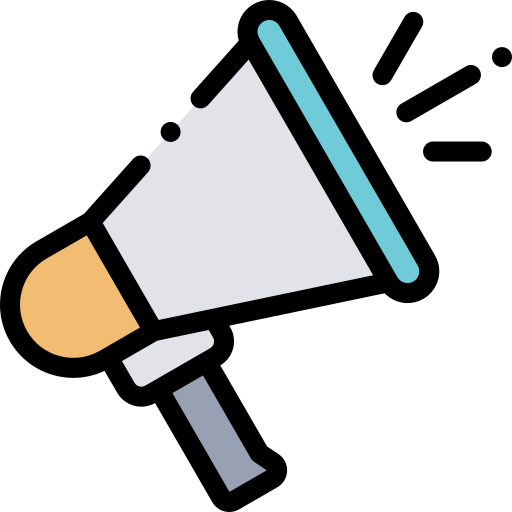 megaphone icon for social prominence