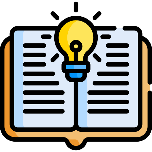 resources icon showing an open book