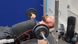 Gym equipment in use